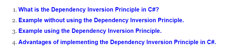 Dependency Inversion Principle in C# with Examples