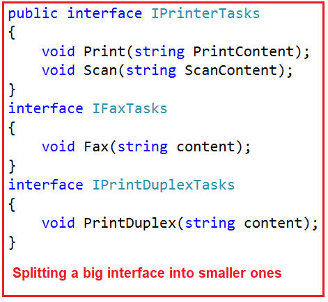 Interface Segregation Principle in C#