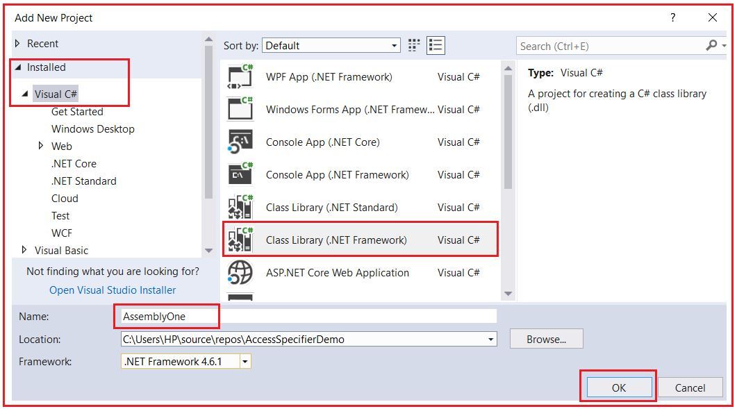 Access Specifiers in C# with Examples