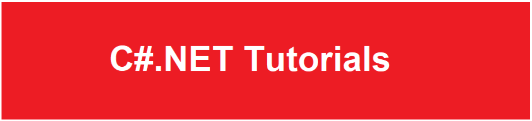 C#.NET Tutorials For Beginners and Professionals