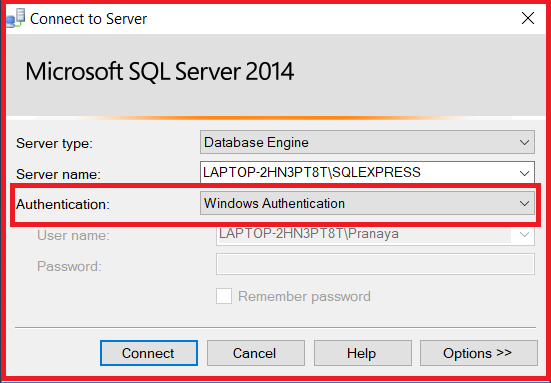 Windows Authentication Mode in SQL Server