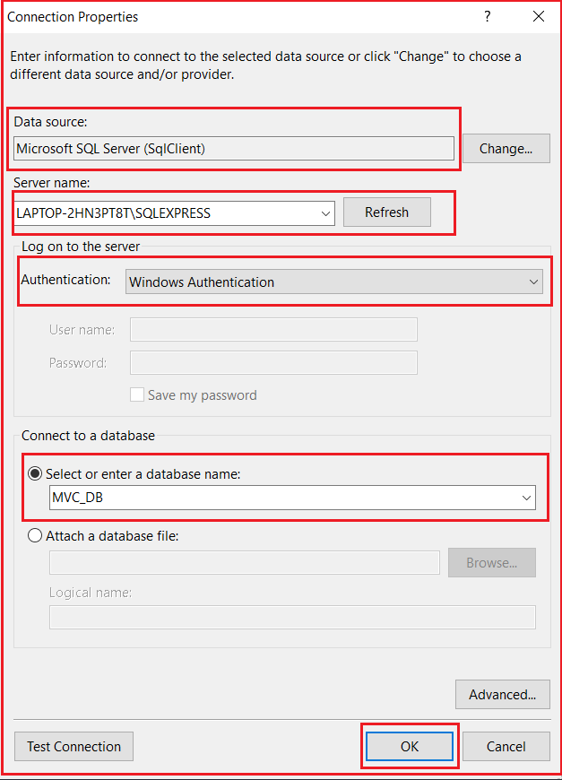Creating Database Connection in Entity Framework Database First Approach