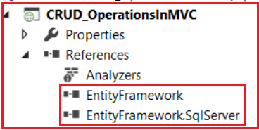 Entity Framework References in ASP.NET MVC Application