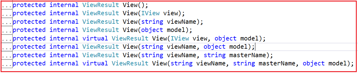 Overloaded Versions of View in MVC