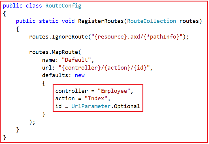 RouteConfig File in ASP.NET MVC Application
