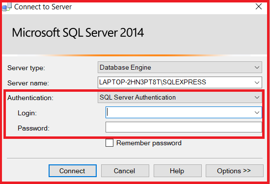 SQL Server Authentication Mode