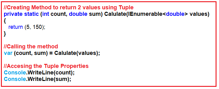 Tuples in C# 7 with Examples