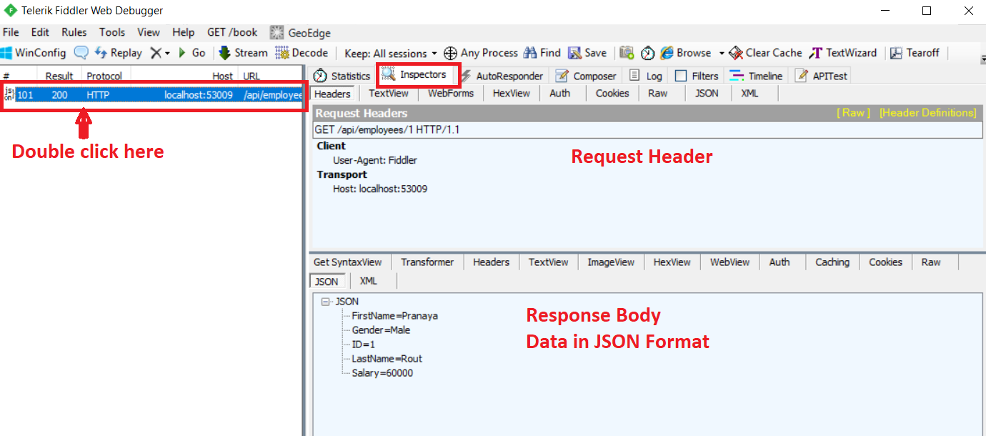 How to Request Web API Service to Return Data in JSON Format?