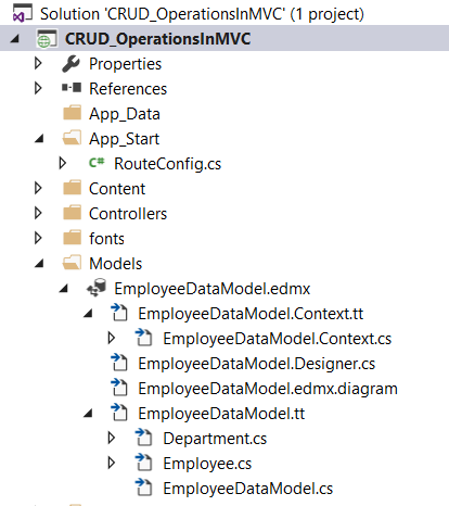 multiple tables in MVC application using entity framework