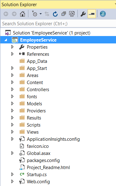 ASP.NET Web API using SQL Server
