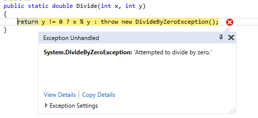 Thrown Expression in C#