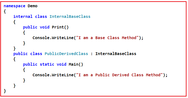 Access Modifiers Interview Questions in C# with Answers