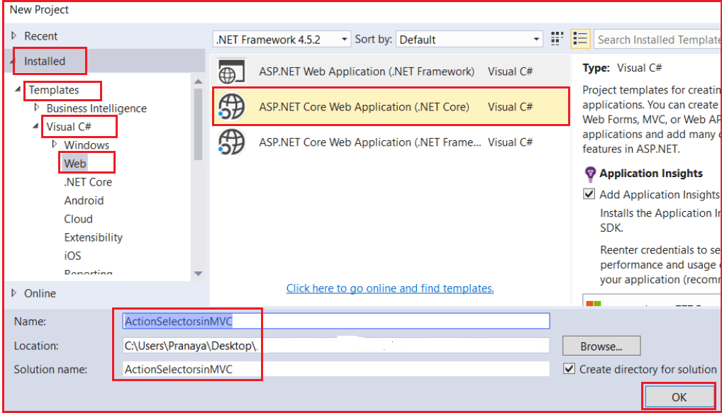 ActionName Action Selector in ASP.NET MVC Application