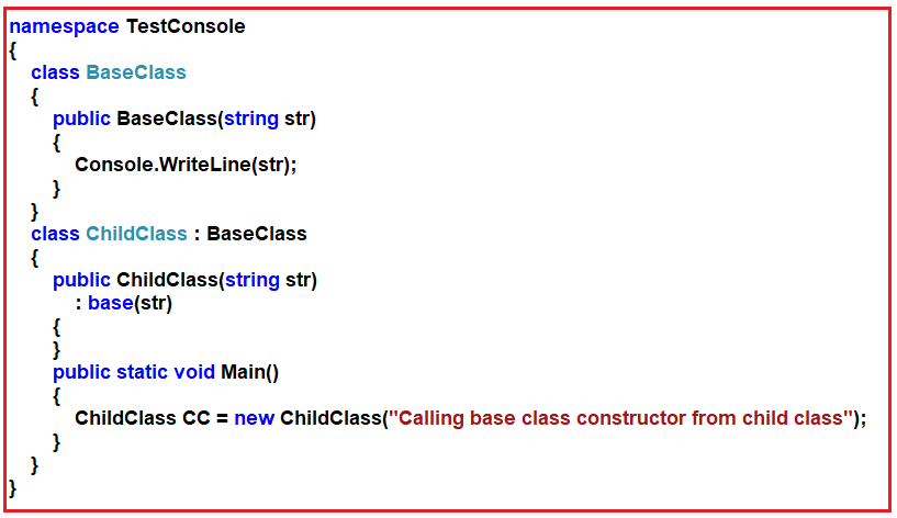 Constructor Interview Questions and Answers in C#