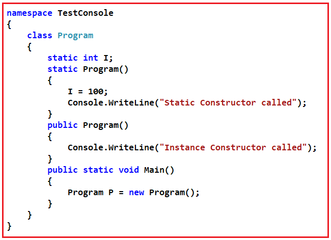Constructor Interview Questions in C# with Answers