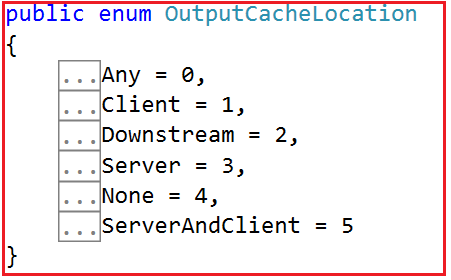 VaryByParam Location and CacheProfiles OutputCacheLocation Enum