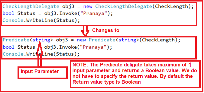 how to use the Predicate Generic Delegate in C#
