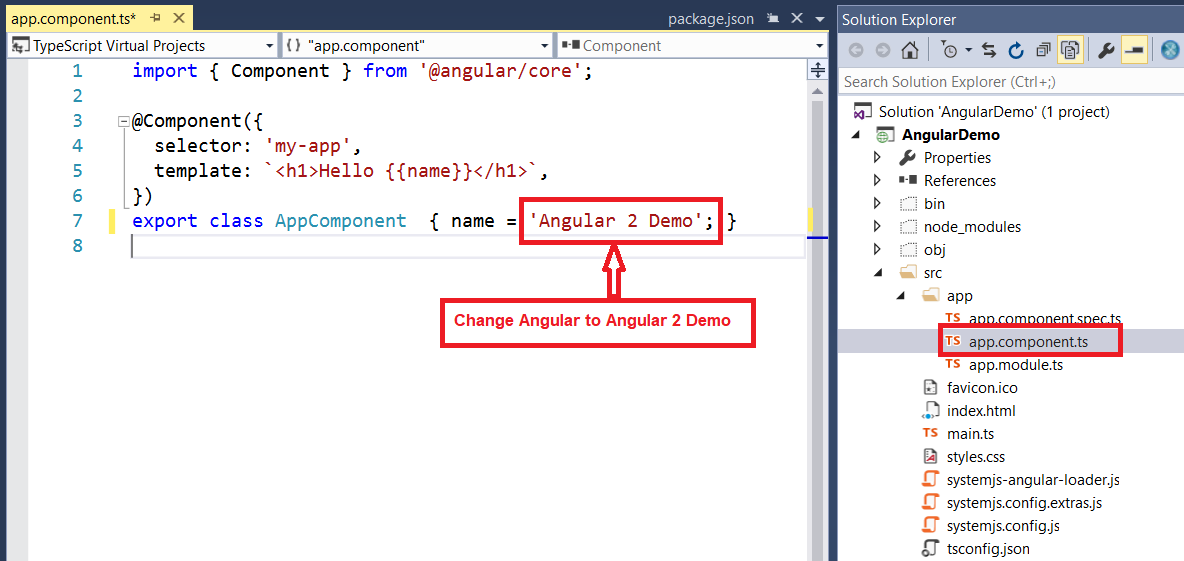 Angular 2 Environment Setup in Visual Studio