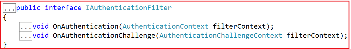 Authentication Filters in MVC