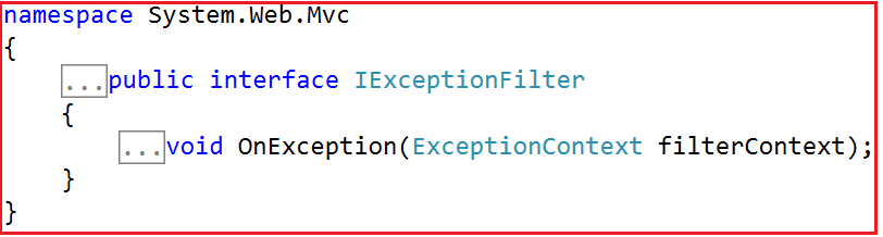 Creating Custom Exception Filter in MVC
