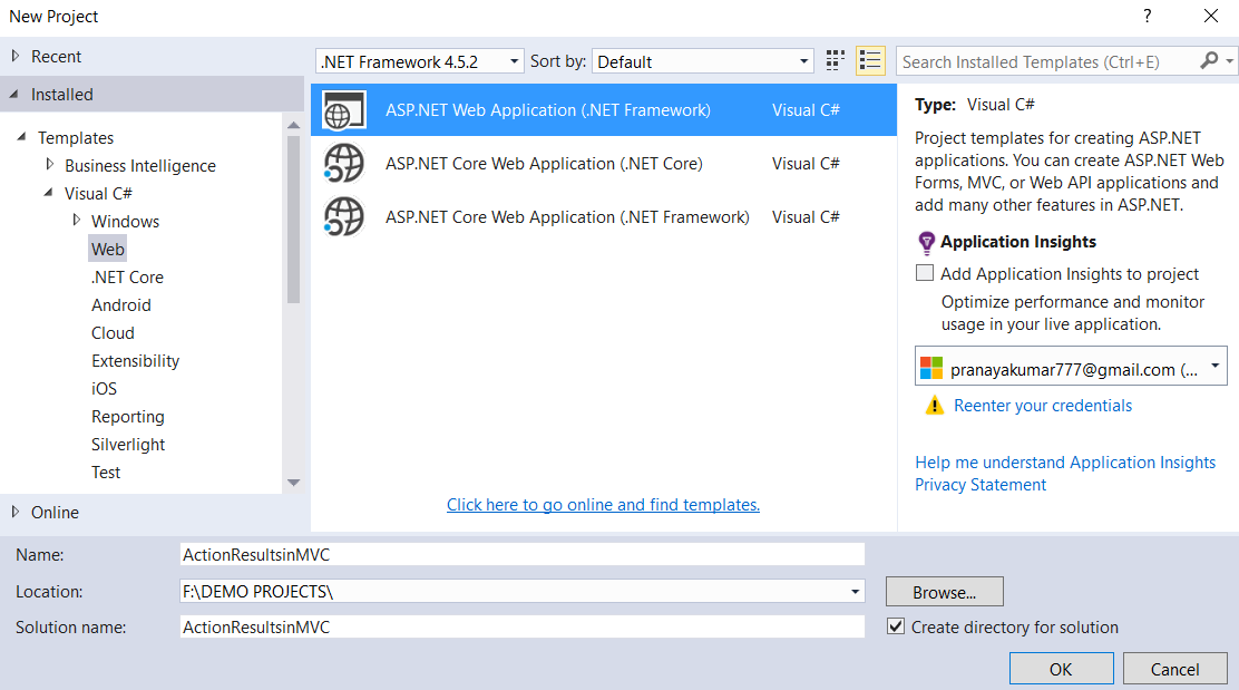 View Result and Partial View Result in ASP.NET MVC