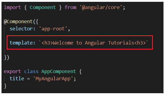 What are the template and templateURL in Angular?