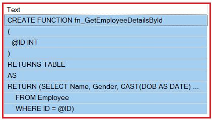 Viewing the Text of a Function using sp_helptext system stored procedure