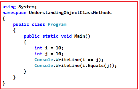 Why we need to Override the Equals Method in C#