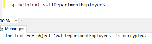 Views with Check Encryption and Schema Binding Options in SQL Server