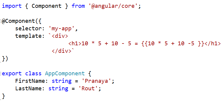 Angular Interpolation