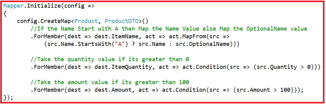 C# AutoMapper Conditional Mapping