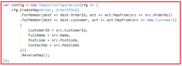 AutoMapper Reverse Mapping in C#