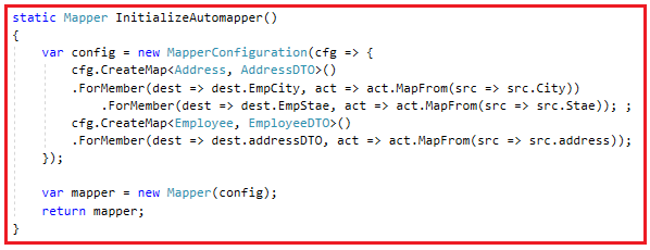 AutoMapper with Nested Types in C#