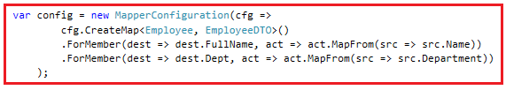How to map two properties when the names are different using automapper.