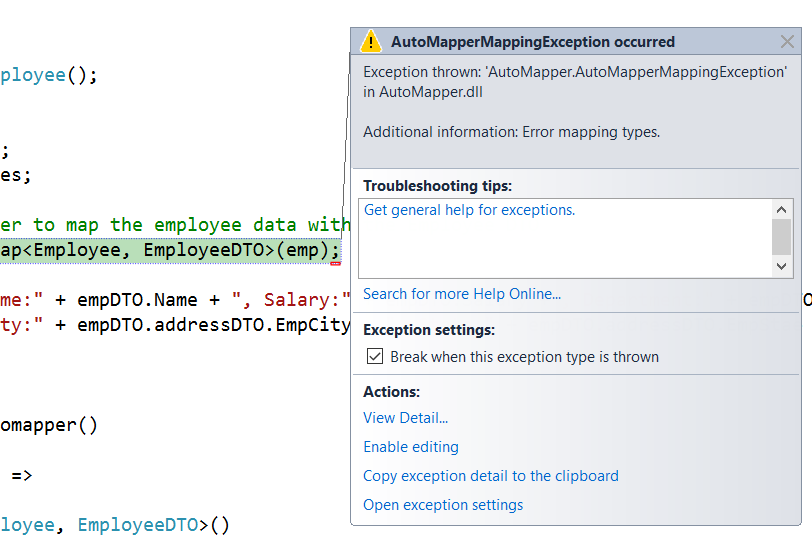 AutoMapper Complex Mapping in C# - Dot Net Tutorials