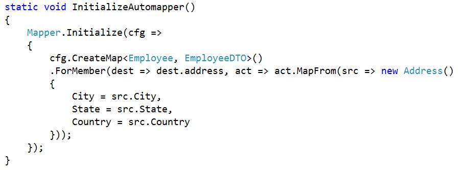 Mapping Complex type to Primitive Type using AutoMapper