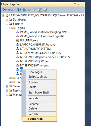 Creating and Managing Users in SQL Server