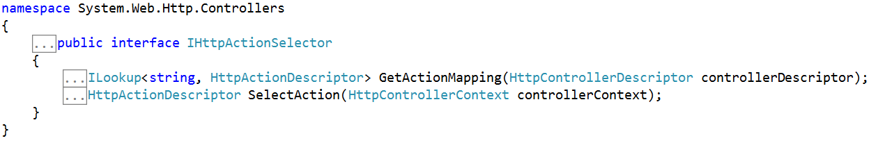 Routing and Action Selection in Web API