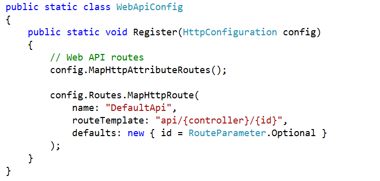 Attribute Routing in WEB API