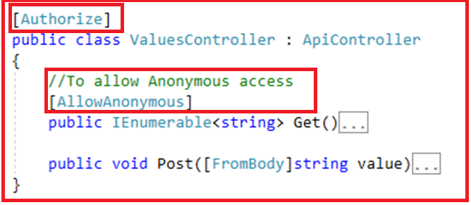 Authentication and Authorization in Web API