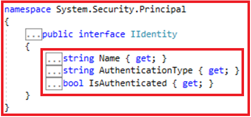 Authentication and Authorization in Web API - IIdentity Object