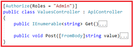 Authentication and Authorization in Web API - Restricted by Roles