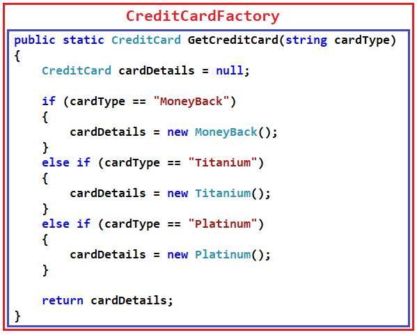 Factory Design Pattern Implementation in C#