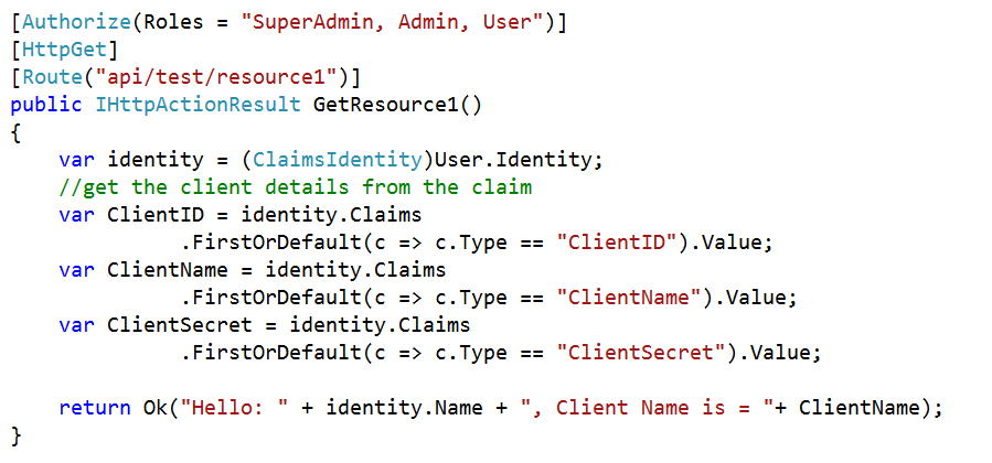 Client Validation Using Basic Authentication in Web API