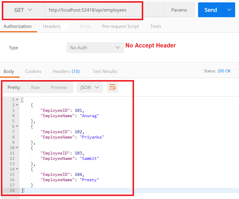Web API Versioning Using Accept Header