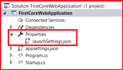 lunchsetting.json file in ASP.NET Core