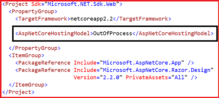 OutofProcess Hosting in ASP.NET Core