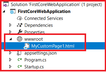 Static Files Middleware in ASP.NET Core Directory Structure