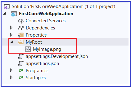 How to Create your own Webroot folder in ASP.NET Core?