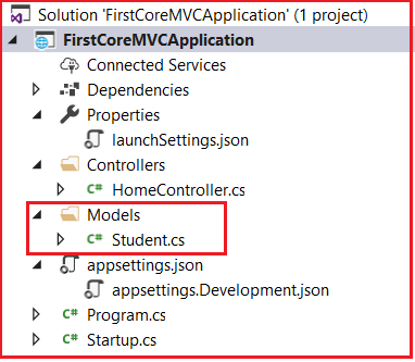 Model in ASP.NET Core MVC Application